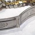ロレックスのオイスターパペチュアルデイトジャスト コンビ中留パイプ溶接修理
