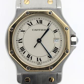 Cartier/カルティエ サントス 187902 ベルト溶接修理