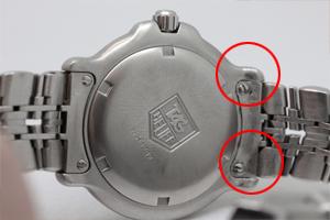 タグホイヤー 6000シリーズのベルト修理