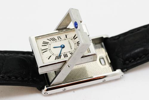Cartier/カルティエ タンクバスキュラン ガラス交換